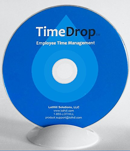 Software, Time Attendance Tracker, Secure Punch Clock In & Out, No Monthly Fees, Free Support & Updates, Unlimited User Profiles, Download & CD - TimeDrop by LotHill ()