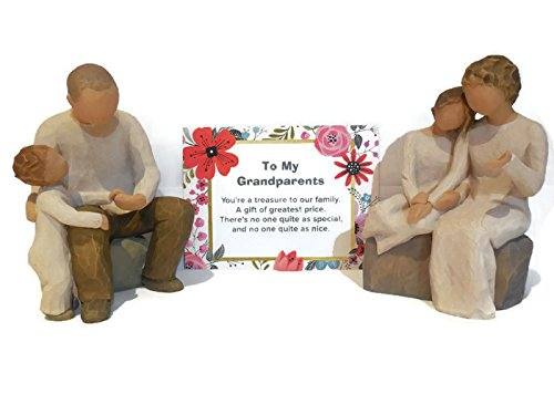 Amazon.com: Willow Tree With My Grandmother Figurine Bundle With ...