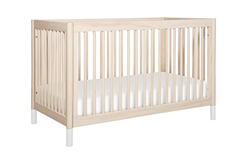 (babyletto Gelato 4-in-1 Convertible Crib with Toddler Bed Conversion Kit, Washed Natural)