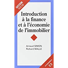 Introduction a la Finance et a l'Economie de Immobilier (poche)
