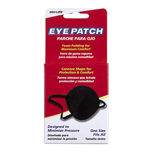 Acu-Life Eye Patch, Black | Protects and Blocks Light | Adjustable for Kids and Adults | Great for Pirate Costume and Games from Acu-Life