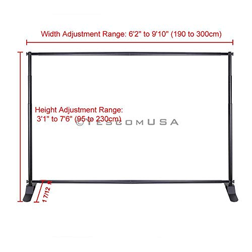 10x8 ft Portable Trade Show Jumbo Banner Backdrop Stand