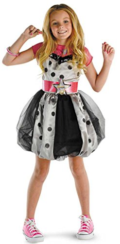 Hannah Montana Costumes (DIS50451 (7-8) Hannah Montana Deluxe Polka Dot Costume Dress)