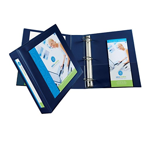 Avery Framed View Binders with One Touch 2-Inch EZD Ring, Holds 8.5 x 11 Inches Paper, Navy Blue (68033)