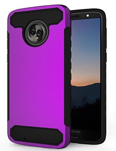 Moto G6 Case,Moto G6 Phone Case,SENON Slim-fit Shockproof Anti-Scratch Anti-Fingerprint Protective Case Cover for Motorola Moto G6 2018,Purple
