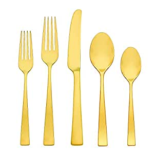 Gorham Argento Gold Luster 5 Piece Stainless Place Setting Flatware Sets Flatware