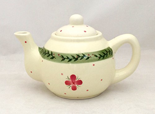 Tuscany Hand Painted White Cherry Bloom Ceramic Teapot, 82517A by ACK