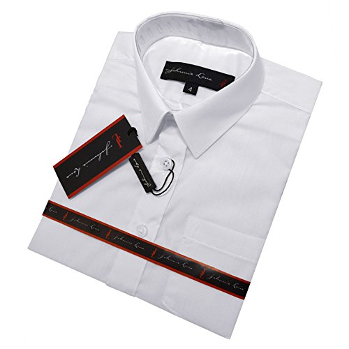 Johnnie Lene Boys Short Sleeves Solid Dress Shirt