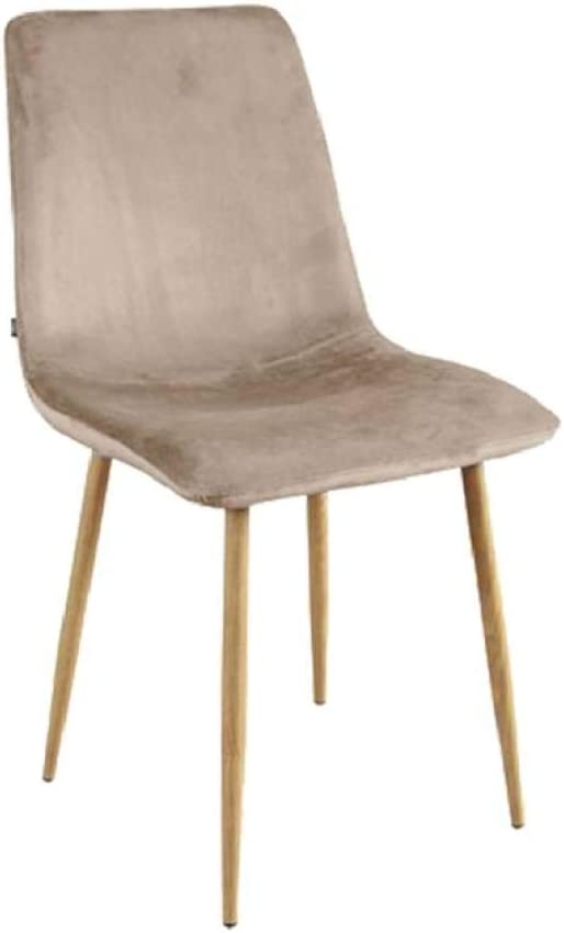 Zone – Set di 6 sedie in velluto tortora sostenute su 4