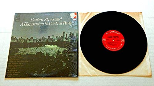 Barbra Streisand A Happening In Central Park 1a1a1a - Columbia Records 1968 - Used Vinyl Record Album - 1968 Pressing In Shrink Wrap - 360 Sound Labels - Cry Me A River - People - I Can See It