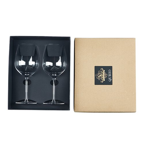 Wine Glasses 2PACK Hand Blown Premium Crystal Glassware Red Wine Glasses (Delicate Spun Glass)