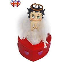 Betty Boop With Feather Angel Wings Jewellery and Trinket Box For Girls