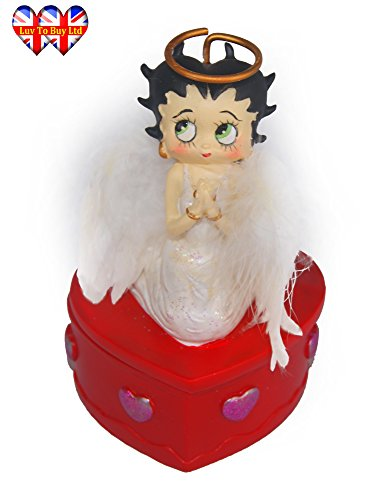 her Angel Wings Jewellery and Trinket Box For Girls (Betty Boop Angel)