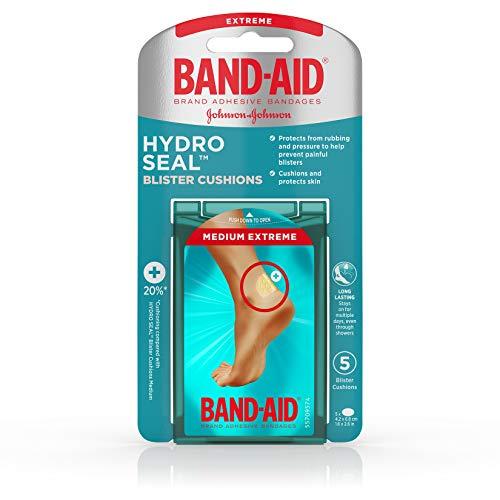 Band-Aid Brand Hydro Seal Blister Cushion Bandages, Waterproof Adhesive Pads, Medium, 5 ct ()