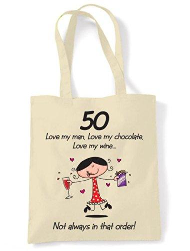 Chocolate Man Shoulder Love My My Bag Birthday Wine Tote 50th Love My Love 5wIqxHg5A