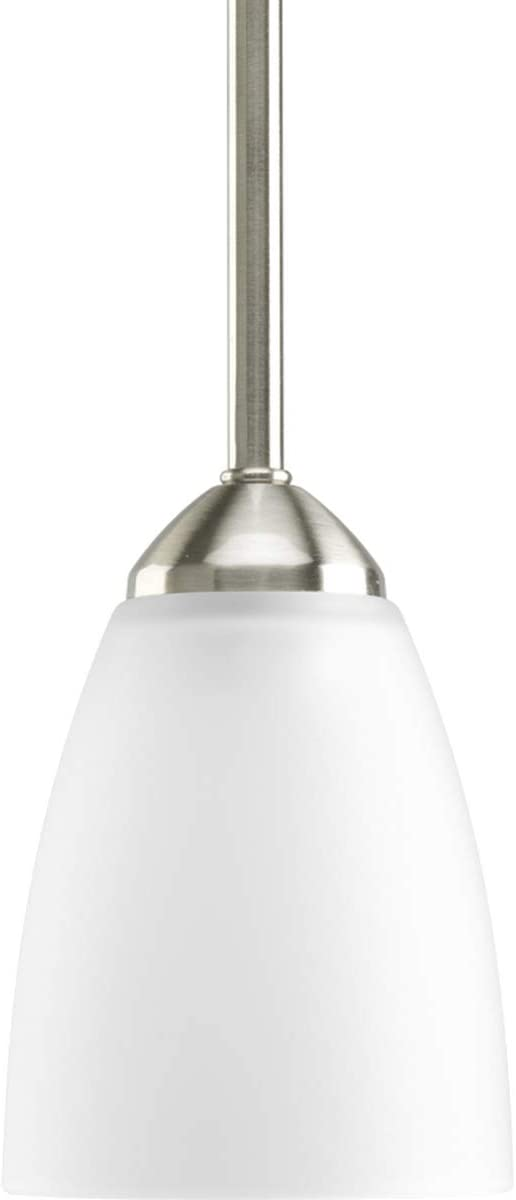 Progress Lighting P5113-09 Transitional One Light Mini Pendant from Gather Collection in Pwt, Nckl, B S, Slvr. Finish, Brushed Nickel