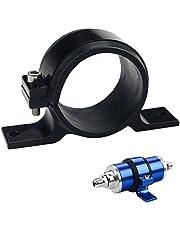 Dewhel fuel pump mount mounting bracket clamp cradle For BOSCH 044 (Black)