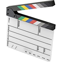 """Elvid 9-Section Acrylic Dry Erase Production Slate [Clapboard] with Color Clapper Sticks (9x11"""")"""