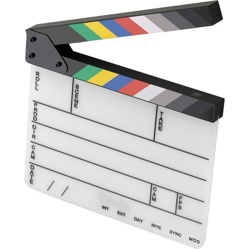 Elvid 9-Section Acrylic Dry Erase Production Slate [Clapboard] with Color Clapper Sticks -
