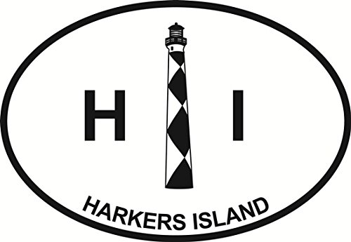Harkers Island Light Euro Oval Bumper Sticker