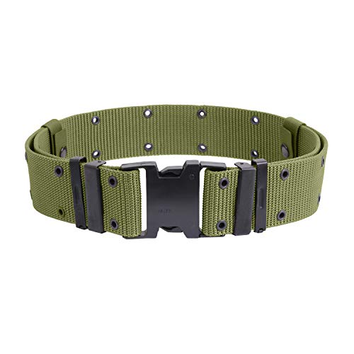 Olive Drab Marine Corp Style Quick Release Pistol Belt - ()