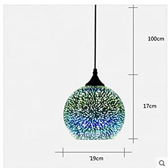 INJUICY Beleuchtung Modern Globus Glas Pendelleuchten, Kunst Ball 3D ...