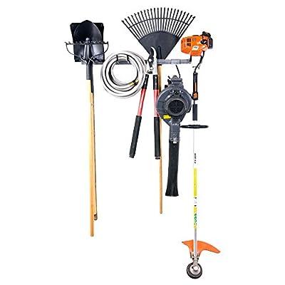 "Small Yard Tool Rack (Soapstone Grey) (35""W x 4""H x 5""D)"