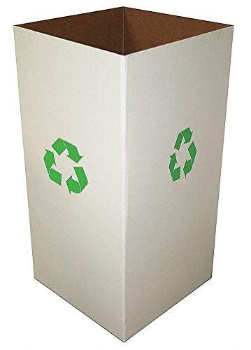 11,664 cu. in. Clay White Recycle Collection Box
