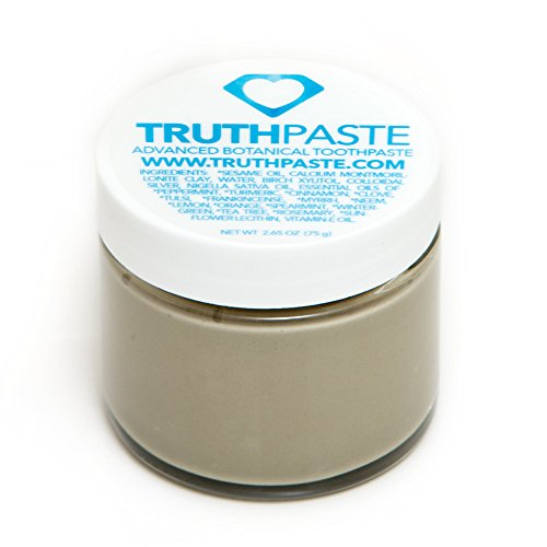 TruthPaste Natural Toothpaste - Flouride Free - Ayurvedic Toothpaste made with Organic Oils - Natural Calcium Montmorillonite - Essential Oils - 2oz. | 60ml.