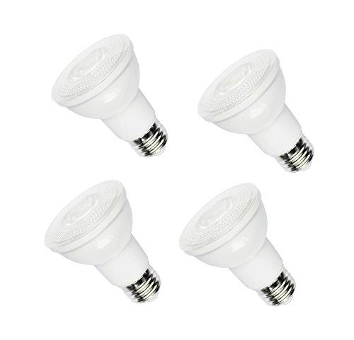 LED PAR20 Dimmable Light Bulb, 8W 50W Equivalent, 600 lumens Warm White 3000K, E26 Medium Screw Base, Flood Light Bulb, 4 Pack