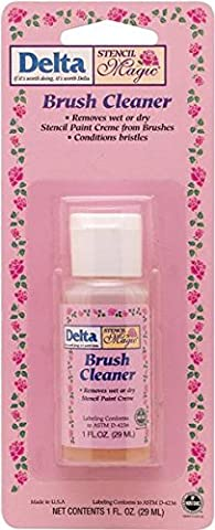 Delta Creative Stencil Magic Brush Cleaner (1 Ounce), 982010109