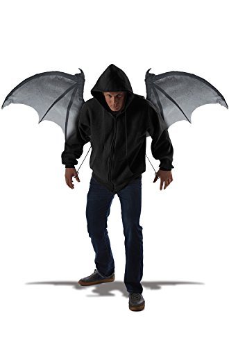 California Costumes Men's Wicked Wings, Gray/Black, One Size (Wings For A Costume)