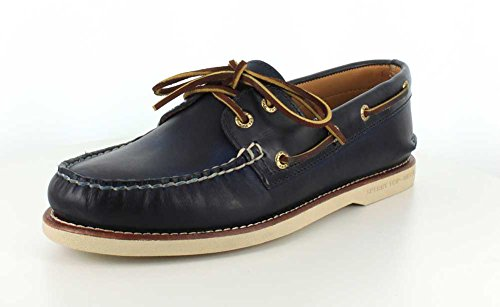 Sperry Gold Cup Authentic Original Cross Lace Boat Shoe Navy