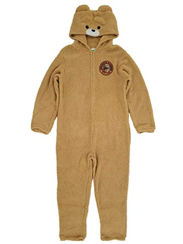 Ted 2 Mens Plush Teddy Bear Costume Union Suit Pajamas L Tan ()