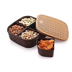 RJ ROJENO 4 Sections Multipurpose Dry Fruit Chocolates