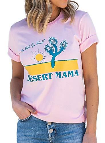 Desert Cactus Mama Graphic Tees Vintage 70s Southwest Joshua Tree Arizona California Gifts Souvenir T-Shirt (S, - Womens T-shirt Arizona