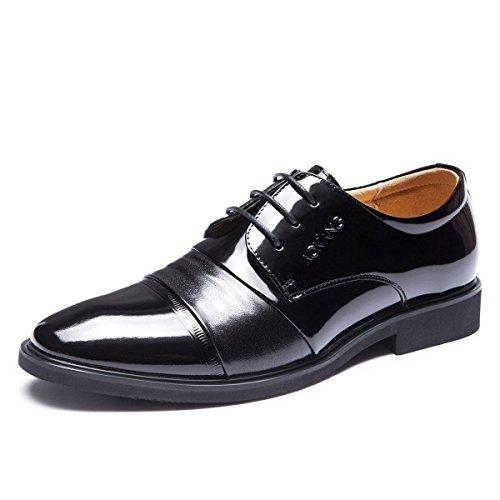 LEDLFIE Tipps Business Dress Lederschuhe Lackleder Black