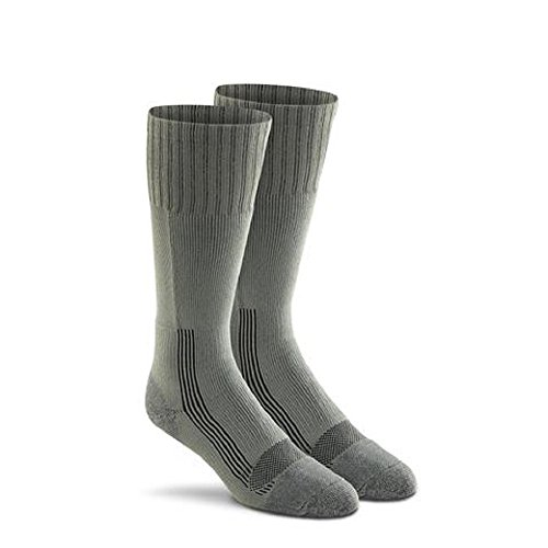 Military Wick Dry Maximum Mid Calf Boot Sock (2 Pack - X-Large, FOLIAGE GREEN)