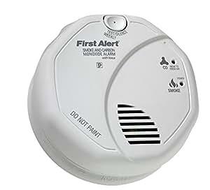 First Alert BRK SC7010BV Hardwired Talking Photoelectric Smoke and Carbon Monoxide Alarm