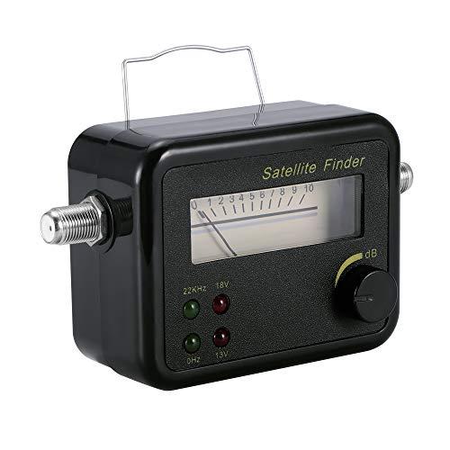 Signal Meter, DVB-T Mini Digital Satellite Signal Finder Meter, TV Reception Systems (Black)