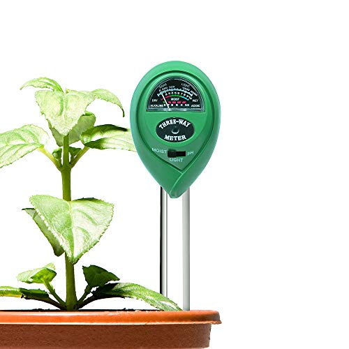 Locus Soil PH Meter, Light PH Tester, 3-in-1 Soil Moisture Meter, Soil Meter Indoor Outdoor Garden, Farm, Lawn, (No Battery Needed) by Locus