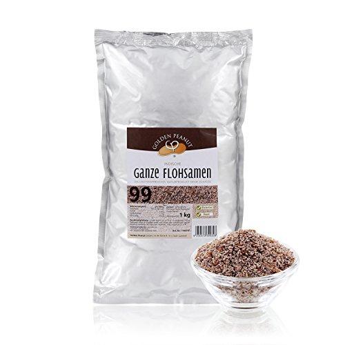 Golden Peanut Indische Flohsamen ganz 99% 2 x 1 kg Beutel