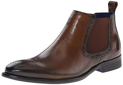 Steve Madden Men's Trivea Chelsea Boot, Cognac, 7.5 M US