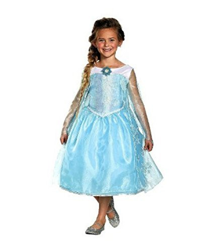 Disney Frozen Deluxe Elsa Halloween Costume Size