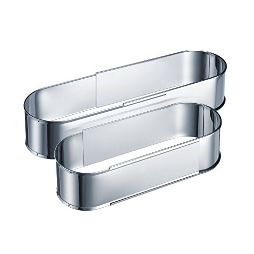 Westmark Oval baking tin- Perfect for Cakes and Breads No-Base Stainless Steel Extendable Bakeware, Stainless Steel by Westmark