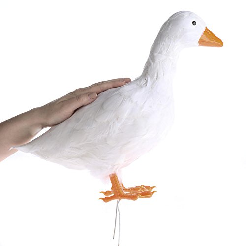 Factory Direct Craft Reaslistic Look Artificial Duck with White Feathers