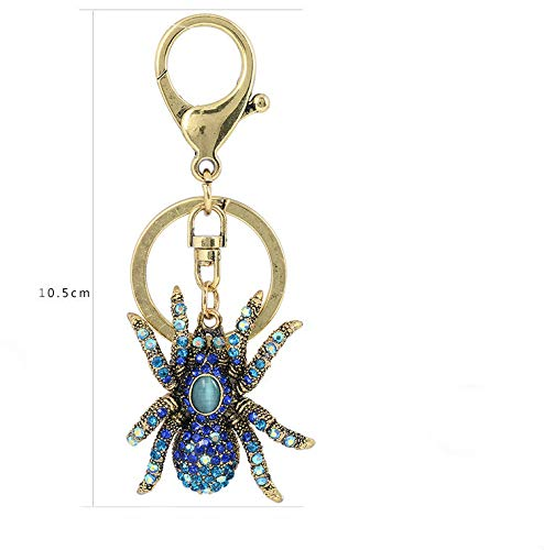 Tvoip New Crystal Spider Keychains Personality Key Ring Male Car Key Chains Female Bag Accessories Keychain Key Chain