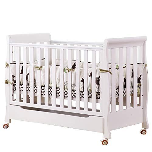 cama de cuna Cuna de bebé empalme de cama de madera maciza estilo europeo Cuna de cama multifunción (Color : Brown): Amazon.es: Bebé