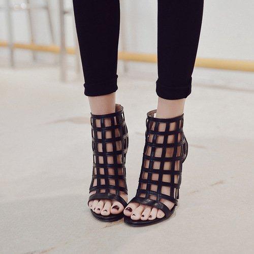 expuesto sandalias de zapatos moda tacón pescado boca en black alto zapatos zapatos la primavera Los mujer bien con de ZHZNVX de FEawgqOzxn