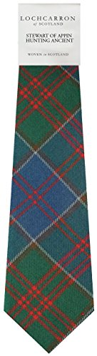 Stewart Of Appin Hunting Plaid (Ancient) Soft Pure Wool Necktie